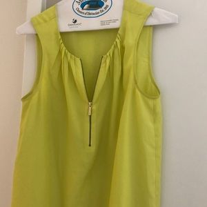 Yellow/green Michael Korda blouse size s